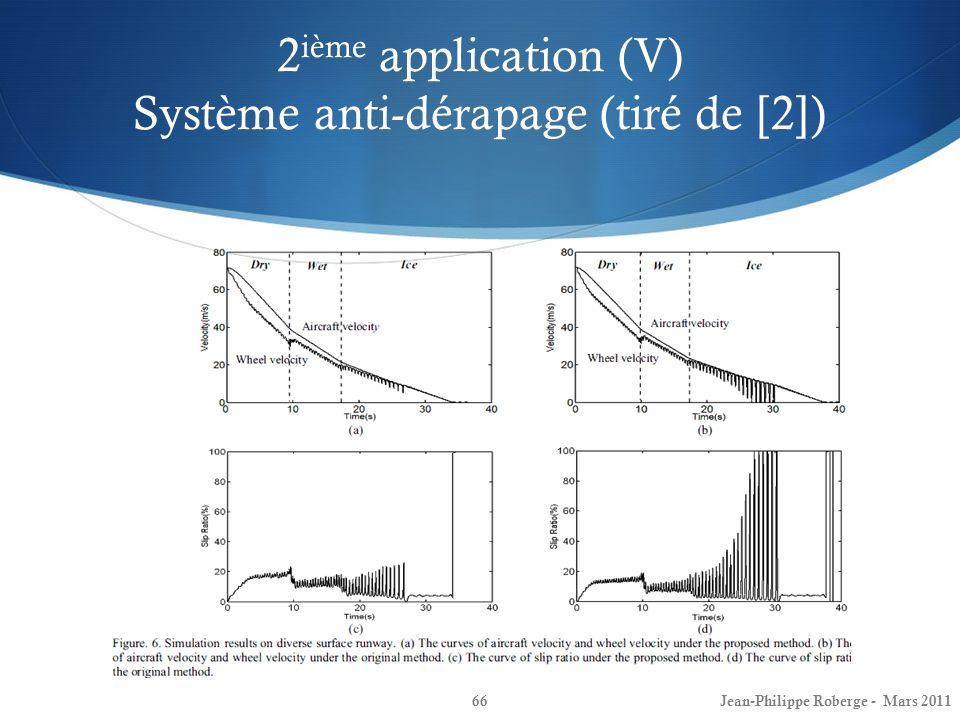 2ième application (V) Système anti-dérapage (tiré de [2])